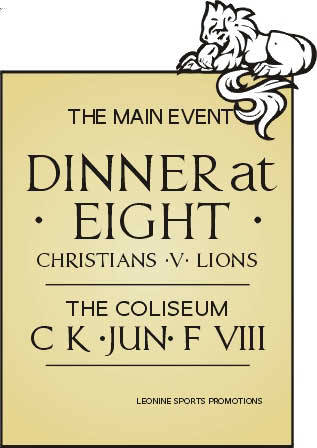 Dinner at Eight poster from the Coliseum. LHF Essendine.