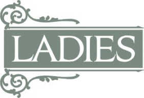 LADIES; LHF Essendine lettering