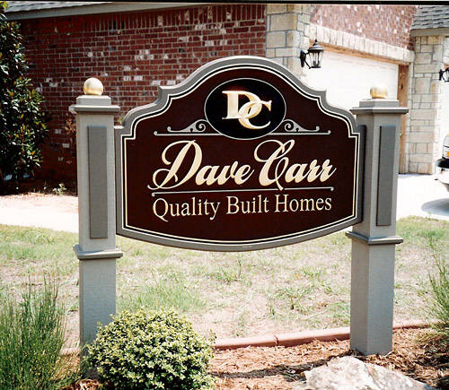 Sign for Dave Carr Quality Built Homes, designed and manufactured by Mark Yearwood